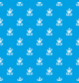 carrot pattern seamless blue vector image vector image