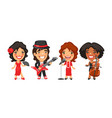 cartoon characters musicians dancer and singer vector image