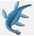cartoon plesiosaurus white background vector image vector image