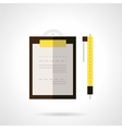 Clipboard and pen flat icon vector image vector image