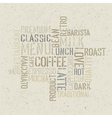 coffee words poster design template vector image vector image