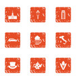 come together icons set grunge style vector image vector image