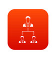 company structure icon digital red vector image vector image