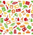 cooking seamless pattern vector image vector image