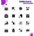 coronavirus prevention 25 icon set blue building vector image vector image