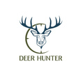 deer hunter design template vector image vector image