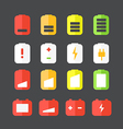 Different accumulator status icons vector image