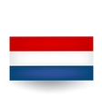 Dutch Flag vector image