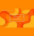 dynamic textured orange background design vector image vector image