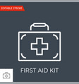 first aid kit related thin line icon vector image