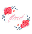 floral red roses design white background im vector image vector image