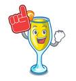 foam finger mimosa mascot cartoon style vector image vector image