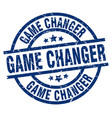 game changer blue round grunge stamp vector image vector image