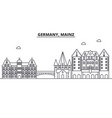germany mainz architecture line skyline vector image vector image