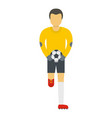 goalie icon flat style vector image vector image