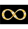 Gold Mobius strip vector image vector image