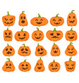 halloween pumpkins orange pumpkin with jack vector image vector image