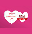 happy valentine day and heart on background vector image