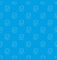 headphones pattern seamless blue vector image