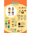 Hipster infographics with fashion design elements vector image vector image