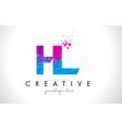 hl h l letter logo with shattered broken blue vector image vector image