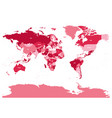 horizontally flipped political map of world vector image vector image