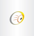 human eye optics symbol vector image vector image