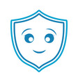 kawaii shield icon vector image