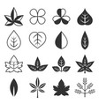 leaves icon set vector image vector image