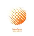 logo halftone design element vector image vector image
