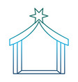 manger house icon vector image vector image