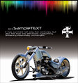 motorcycle background vector image vector image