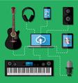 Music recording studio concept vector image