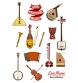Musical instrument cartoon icon set