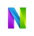 N letter one line colorful logo design template vector image