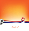 netherlands background with soccer ball vector image vector image