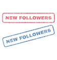 new followers textile stamps vector image vector image