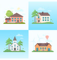 nice houses - set of modern flat design style vector image vector image
