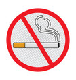 no smoking sign on white background - sign design vector image vector image