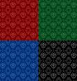 ornament pattern set vector image