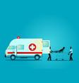 paramedic team moving injured man vector image
