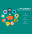 piggy bank money saving concept vector image