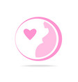 pregnant woman logo vector image