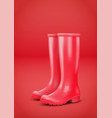 red rain boots vector image vector image