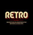 retro style font design eighties inspired vector image vector image