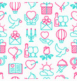 romantic seamless pattern vector image