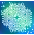 round decorative ornamental mandala vector image