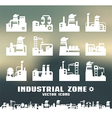 Set of factory icons vector image