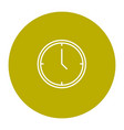 simple line icon sign - time for your business vector image vector image