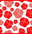 simple rose pattern vector image vector image